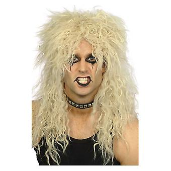 Mens harde Rocker pruik blond Fancy Dress accessoire