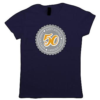50 Happy Birthday Womens T-Shirt | Happy Birthday Celebration Party Getting Older | Age Related Year Birthday Novelty Gift Present | Birthday Gift Her Mum