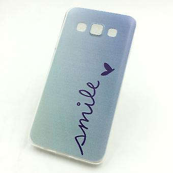Matkapuhelin tapauksessa Samsung Galaxy A3 Smile Blau laukku kattaa + 1 x säiliö lasi