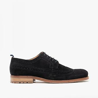 Catesby Shoemakers Chester Mens Suede Brogue Shoes Navy