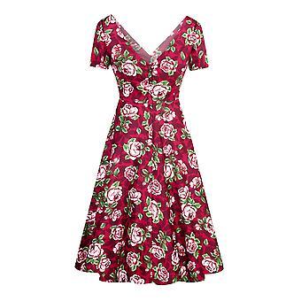 Collectif Vintage vrouwen ' s Bloom print Maria Swing jurk