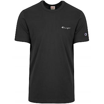 Champion Champion Reverse Weave Black Logo T-Shirt