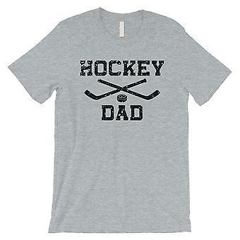 Hockey Dad Mens Grey Supportive Thoughtful Fun Father's Day Shirt