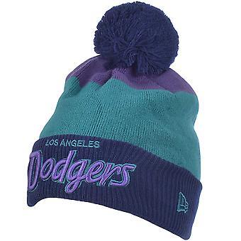 New Era Hombres LA Dodgers MLB Cuff Scripter 2 Bobble Beanie Hat - Multi - OSFA