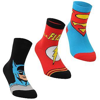 DC Comics Kinder Superman 3 Pack Crew Socken Kinder
