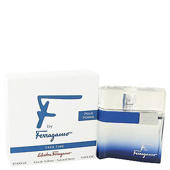 F vrije tijd eau de toilette spray door salvatore ferragamo 482508 100 ml