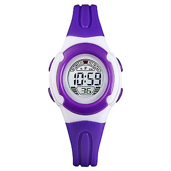 Skmei Childrens Kids Digital Display  Watch Girls Or Boys Stopwatch Alarm Purple
