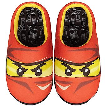 Lego Ninjago Red Ninja Kai Boys Mule Slippers
