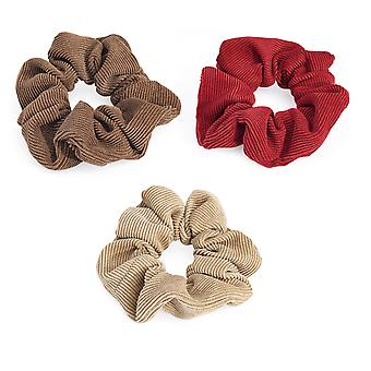 Various Colour 4cm Cord Look Elasticated Hair Scrunchie