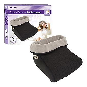 Bauer 2in1 Electric Foot Warmer & Massager Black