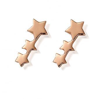 ChloBo Rose Gold Plated Shooting Stars Stud Earrings