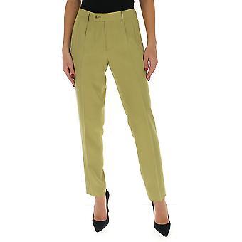 Etro 1332543100500 Women's Green Cotton Pants