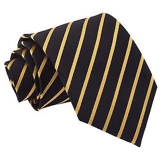 Schwarz & Gold einzigen Streifen klassische Krawatte