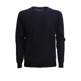 Corneliani 85m5200125104001 Men's Blue Wool Sweater