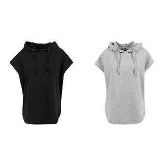 Build Your Brand Womens/Ladies Short Sleeve Hoodie