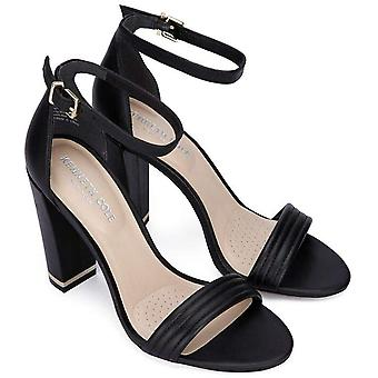 Kenneth Cole New York Women's Milena Ankle Strap Sandal Heel in Leather