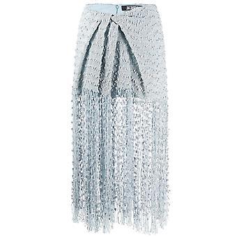 Jacquemus 201sk0620126334 Women's Light Blue Cotton Skirt