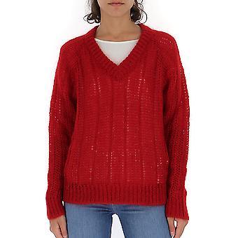 Prada Uma9921uz0f0011 Männer's rote Wolle Pullover