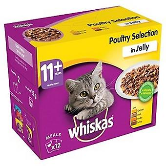 Whiskas Poultry Selection In Jelly Cat 11+ Wet Food (4 Packs)