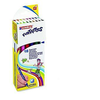 edding-15 Funtastics fibre pens 1mm assorti 18 colors 4-15-18