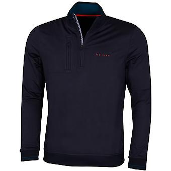 Ted Baker Mens 2020 Newcomp Vocht wicking 1/4 Zip Golf Trui