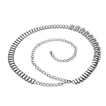 48 Inch Silver Rhinestone Diamond Waist Chain Belt