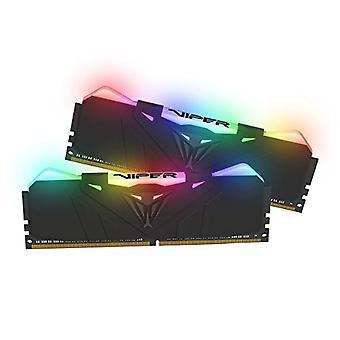 Viper RGB DDR4 3600 16GB (2x8GB) C17 RGB opplyst gaming minne kit - svart - PVR416G360C7K