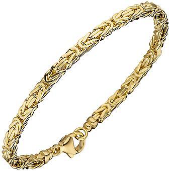 سوار ملكي 585 الذهب الأصفر الذهب 19 سم سوار الذهب سوار كارابينر