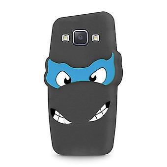 Samsung Galaxy A5 (2015) - 3D silikoni suojakuori - musta