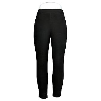 Women with Control Petite Leggings Pull-On Ponte Royale Black A294352