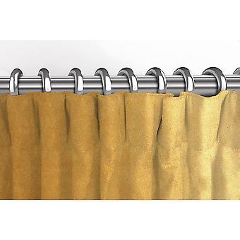 McAlister têxteis Matt ocre cortinas de veludo amarelo