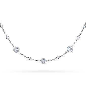Choker Belle Amie Circle Cut 18K Gold and Diamonds - White Gold