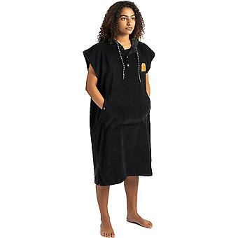 Slowtide The Digs Poncho S/M Hooded Towel in Black