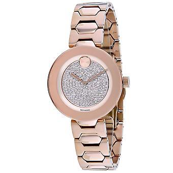 Movado Mujeres's Bold Rose oro dial reloj - 3600493