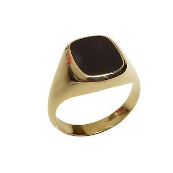 Christian gold onyx ring