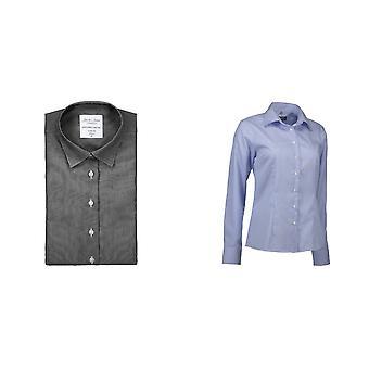 ID Womens/Ladies Fine Twil Shirt California Modern Fit