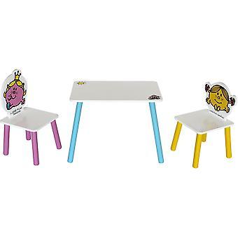 Kiddi Style Little Miss Table avec deux chaises