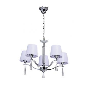 Chrome Pendant Light Megapolis 5 Bulbs 85 Cm