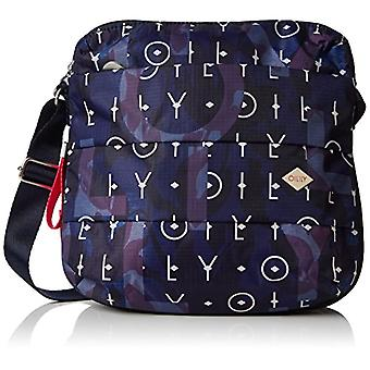 Oilily Ruffles Shoulderbag Mvz - Donna Blau (Dark Blue) 8x25x26cm (B x H T) shoulder bags