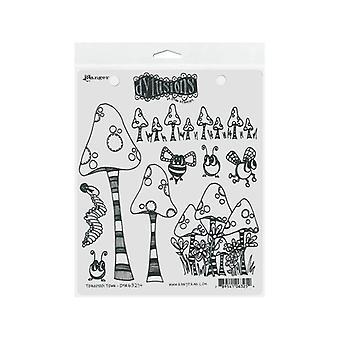 """ديان ريفلي Dylusions التشبث مجموعات الطوابع 8.5 """"X7"""" #150 ؛ Toadstool تاون"""