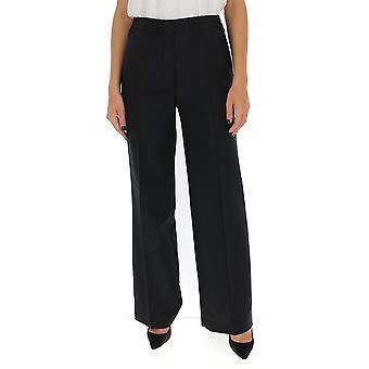 Acne Studios Ak0318black Kvinnor's Black Cotton Pants
