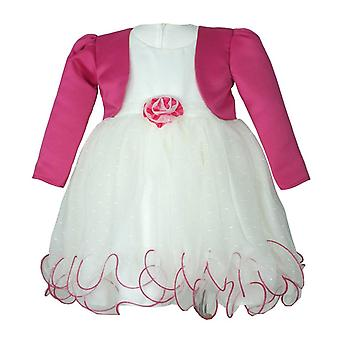 Baby Girls Fuchsia Bolero Ivory Dress