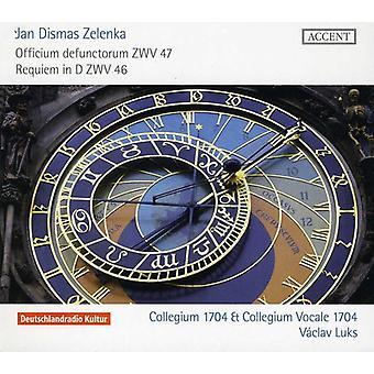 J.D. Zelenka - Jan Dismas Zelenka: Officium Defunctorum, Zwv 47; Requiem i D, Zwv 46 [CD] USA importerer