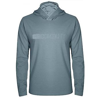 C.P. Company Teal Hooded T-Shirt