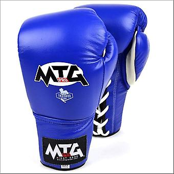 Mtg pro lace-up boxing gloves - blue