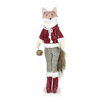 Christmas Standing Fox With Acorn Decoration