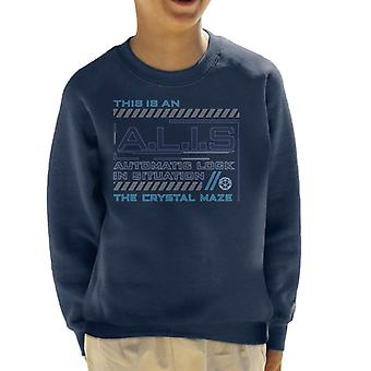 The Crystal Maze ALIS Automatic Lock In Situation Kid's Sweatshirt