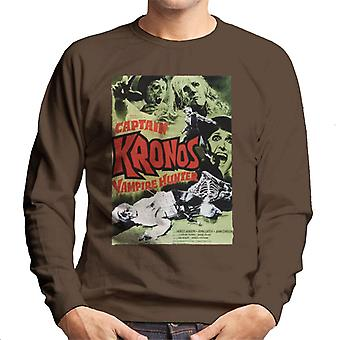 Hammer Horror Films Captain Kronos Classic Poster Men's Sweatshirt