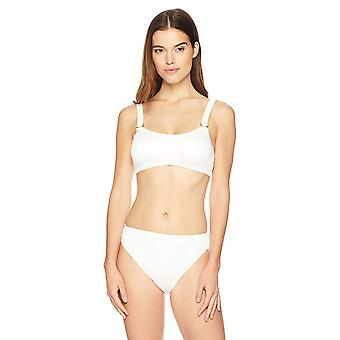 Brand - Mae Women's Swimwear Ribbed Bikini Bottom (for A-C cups),Cream...