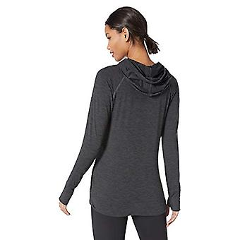 Essentials Women's Brushed Tech Stretch Popover Hoodie, Black Space...